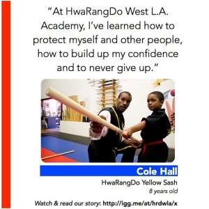 Cole Halls parents brought him to the HwaRangDo West LAhellip