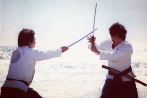 Dojoonim Dr Joo Bang Lee demonstrating sword fighting skills onhellip