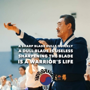 founder hwarangdo taesoodo martialarts joobanglee dojoonim weaponfighting knife knifefighting weaponryhellip