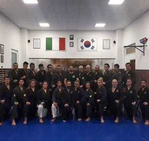 Members of the Hwa Rang Do Club Genoa under thehellip
